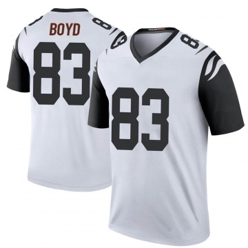 Youth Nike Cincinnati Bengals Tyler Boyd White Color Rush Jersey - Legend