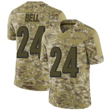 Youth Nike Cincinnati Bengals Vonn Bell Camo 2018 Salute to Service Jersey - Limited
