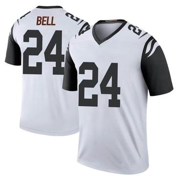 Youth Nike Cincinnati Bengals Vonn Bell White Color Rush Jersey - Legend