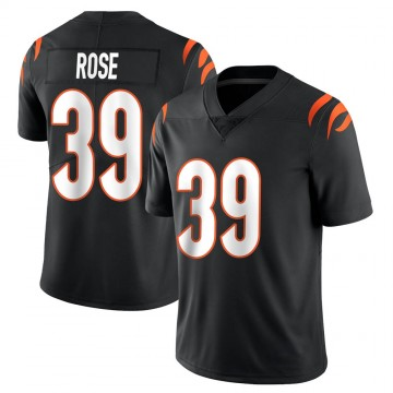 Youth Nike Cincinnati Bengals Winston Rose Black Team Color Vapor Untouchable Jersey - Limited