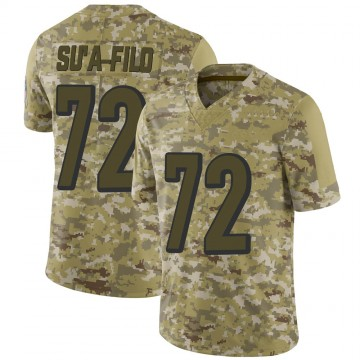 Youth Nike Cincinnati Bengals Xavier Su'a-Filo Camo 2018 Salute to Service Jersey - Limited