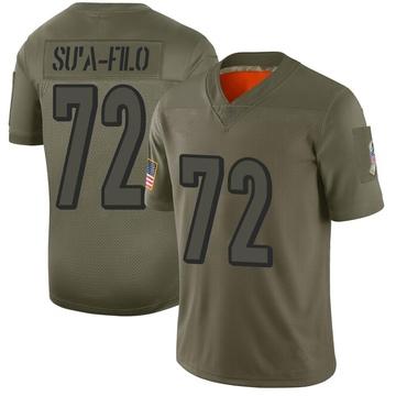 Youth Nike Cincinnati Bengals Xavier Su'a-Filo Camo 2019 Salute to Service Jersey - Limited