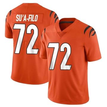 Youth Nike Cincinnati Bengals Xavier Su'a-Filo Orange Vapor Untouchable Jersey - Limited