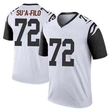 Youth Nike Cincinnati Bengals Xavier Su'a-Filo White Color Rush Jersey - Legend