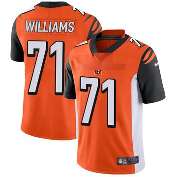Youth Nike Cincinnati Bengals Xavier Williams Orange Vapor Untouchable Jersey - Limited